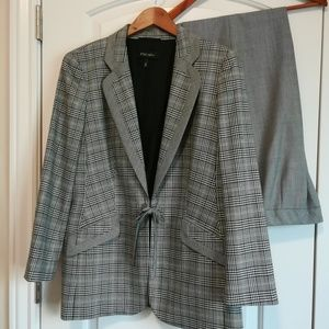 Escada black plaid suit